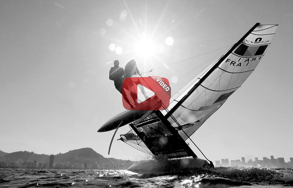 Rio de Janeiro Olympic Test Event - FÈdÈration FranÁaise de Voile. Nacra17, Billy Besson, Marie Riou.
