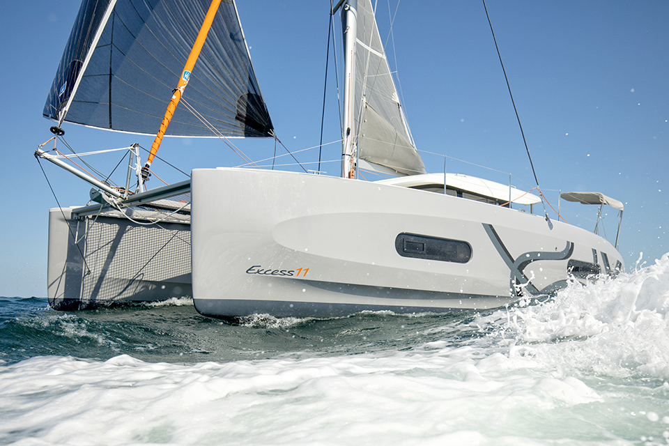 Cruising Catamaran Excess 11<br /> Come into the EXCESS world and explore perfectly designed catamarans inspired by racing for cruising pleasure.