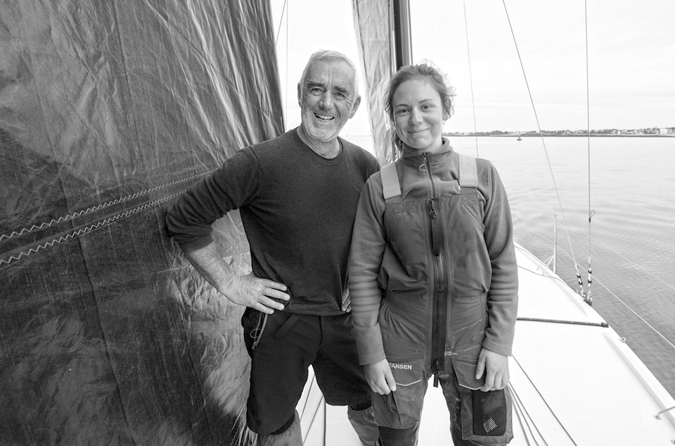 Training Session with Loïck Peyron and Amélie Grassi onboard a Figaro Beneteau 3, preparing for the Sardinha Cup and for La Solitaire Urgo Le Figaro.