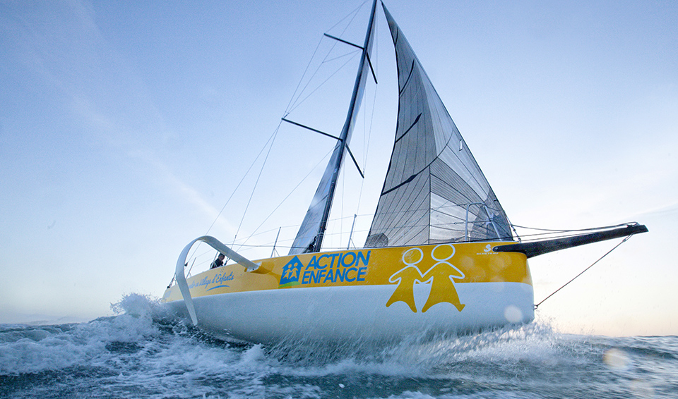 Training Session with Loïck Peyron onboard a Figaro Beneteau 3.