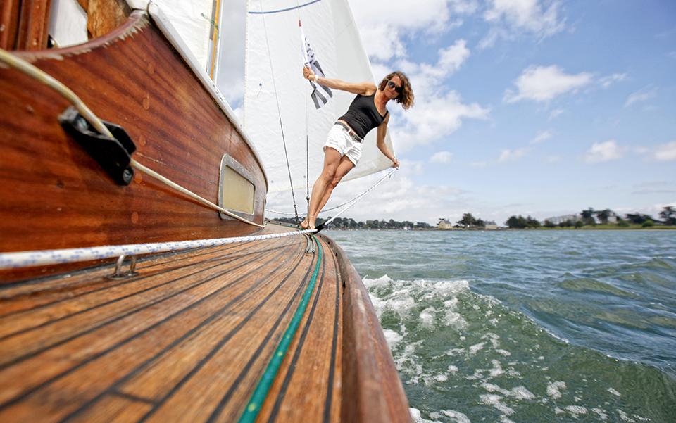 "Onboard the Belouga ""Gwenva"" during the "" Semaine du Golfe du Morbihan""."