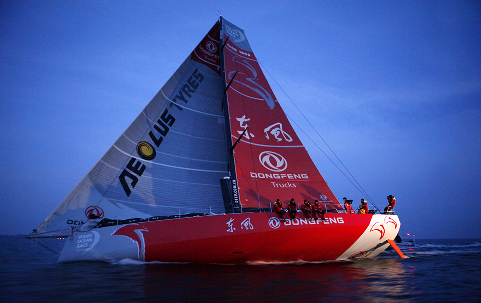 Stop over of the Volvo Ocean Race in Lorient, Brittany, France.