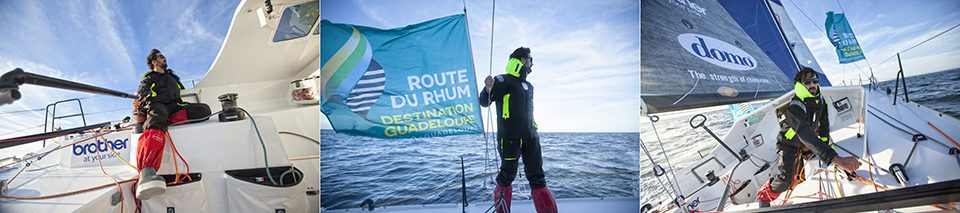 Onboard The Lift 40 ( Class 40 ) Black Mamba-Veedol with the skipper Yoann Richomme training for the Route du Rhum Destination Guadeloupe 2018.